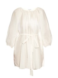 Marysia Swim El Matador Cotton Gauze Tunic Dress White