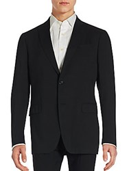 John Varvatos Hampton Solid Linen Blend Sportcoat Black