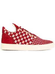 Filling Pieces Low Top Tricolore Sneakers Red