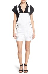 Women's Sts Blue Distressed Short Overalls