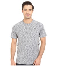New Balance Max Speed Short Sleeve Top Heather Grey Men's Short Sleeve Pullover Gray