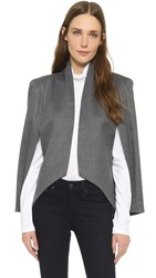 James Jeans Cape Sleeve Blazer Charcoal Flannel