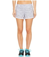 Asics Distance Shorts Grey Skyline Print Women's Shorts Gray