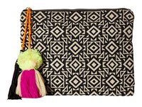 San Diego Hat Company Bsb1696 Woven Pattern Canvas Clutch Geo Clutch Handbags Brown