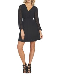 1.State At Leisure Rosy Fit And Flare Dress Rich Black