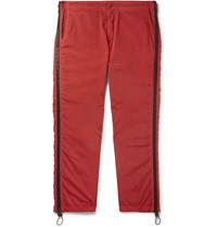 Heron Preston Zip Detailed Shell Trousers Red