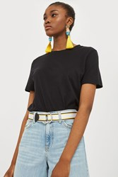 Topshop Sport Tape Loop Belt Monochrome