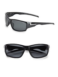 Polaroid 56Mm Wrap Sport Sunglasses Black