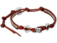 Chan Luu 6' Antique Silver Natural Dark Red Single Antique Silver Natural Dark Red Bracelet