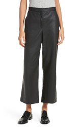 Rebecca Taylor Women's Faux Leather Crop Pants