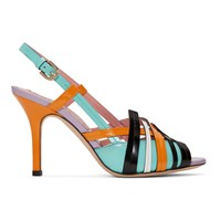 Emilio Pucci Multicolor Strappy Heeled Sandals