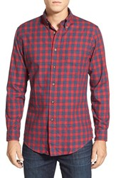 Men's Brooks Brothers Trim Fit Long Sleeve Check Flannel Sport Shirt