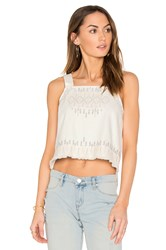 Blank Nyc Embroidered Crop Top White