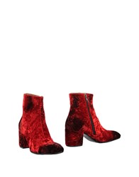 Alexander Hotto Ankle Boots Red