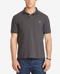 Polo Ralph Lauren Men's Big And Tall Classic Weathered Cotton Mesh Black
