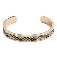 Azuni London Nacona Narrow Bangle In Mountain Gold
