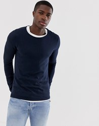 Tom Tailor Melange Jumper Blue