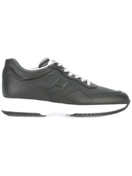Hogan Lace Up Trainers Black