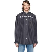 Balenciaga Black Chest Logo Shirt