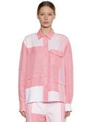 J.W.Anderson Silk And Cotton Patchwork Shirt Pink