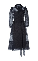 Simone Rocha Bead And Wool Braid Embellished Midi Dress Black