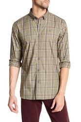 Victorinox Long Sleeve Plaid Print Tailored Fit Shirt Green