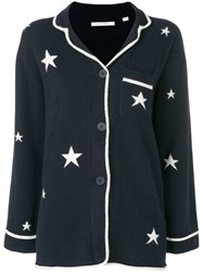 Chinti And Parker Stars Cardigan Blue