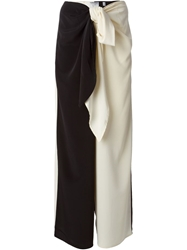 Moschino Cheap And Chic Colour Block Trousers Black