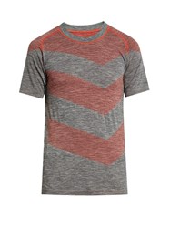 Every Second Counts Flash Seamless Perfomance T Shirt Grey Multi