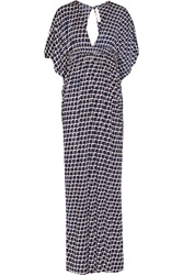 T Bags Printed Jersey Maxi Dress