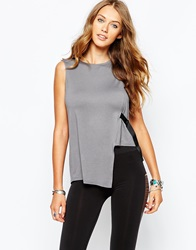 Noisy May Tunic Top With D Ring Detail Grey