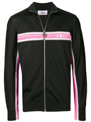 Gcds Logo Stripe Detail Track Jacket Black