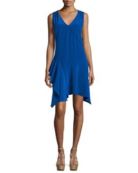 Derek Lam 10 Crosby Sleeveless Asymmetric Draped Tank Dress Cobalt Women's Size 2