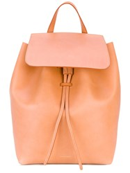 Mansur Gavriel Flap Backpack Women Leather One Size Nude Neutrals