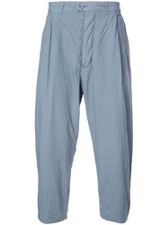 Casey Casey Creased Tapered Trousers Grey