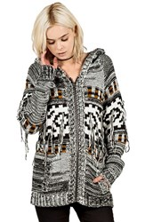 Junior Women's Volcom 'Wild Yonders' Intarsia Hooded Cardigan