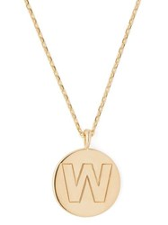 Theodora Warre W Charm Gold Plated Necklace Gold