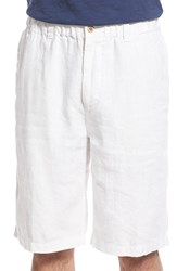 Tommy Bahama Men's Big And Tall 'Linen Out Loud' Linen Shorts White