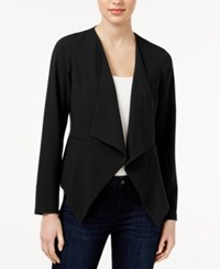 Kensie Date Night Waterfall Blazer Black