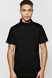 Boohoo Sleeve Turtle Neck Tshirt Black