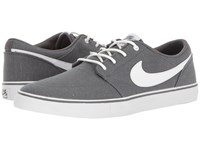 Nike Portmore Ii Solar Canvas Print Dark Grey White Black Men's Skate Shoes