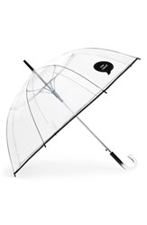 Shedrain 'The Bubble' Auto Open Stick Umbrella Black Rain Check Black