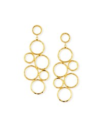 Nest Hammered Gold Plate Circle Statement Earrings