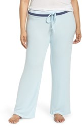 Make Model Plus Size 'Best Boyfriend' Brushed Hacci Lounge Pants Blue Omphalodes