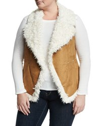Cynthia Steffe Faux Suede Open Front Vest Light Ceda