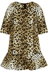 Red Valentino Leopard Print Scuba Jersey Mini Dress Animal Print