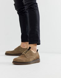Hudson H By Barnstable Derby Shoes In Taupe Suede Brown