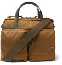 Filson Dryden Leather Trimmed Nylon Briefcase Tan