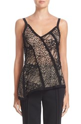 Jason Wu Women's Asymmetrical Lace Tank