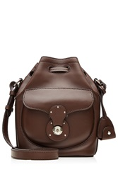 Ralph Lauren Collection Ricky Small Leather Shoulder Bag Brown